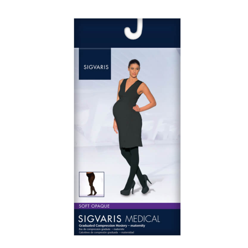 Sigvaris Soft Opaque Maternity Pantyhose