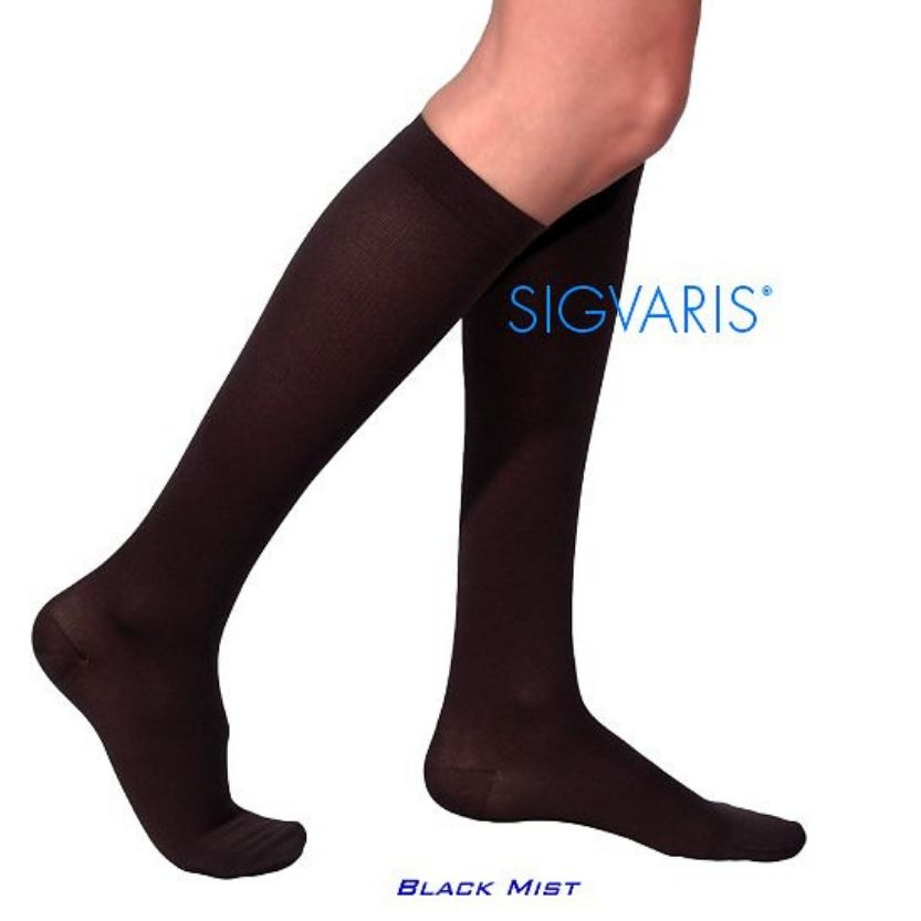 Sigvaris Women's COTTON Calf Closed Toe