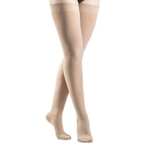 Sigvaris Thigh High Grip Top Closed Toe Stockings