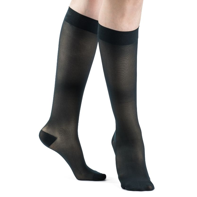 Sigvaris Style Sheer Calf Closed Toe Stockings