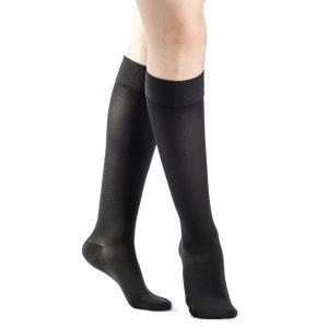Sigvaris Womens Calf Stockings Closed Toe Grip Top