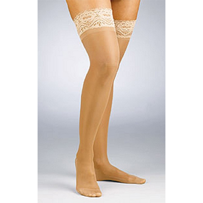 Jobst Activa Sheer Therapy Thigh-Highs Closed Toe Lace
