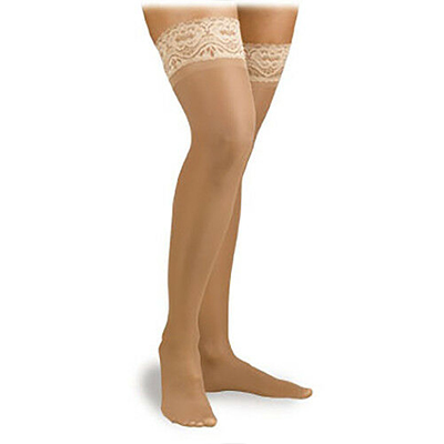 Jobst Activa Ultra Sheer Thigh-High Stockings W/Lace