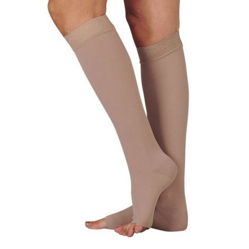 Juzo Dynamic Knee Highs With 3.5cm Silicone Border Open Toe