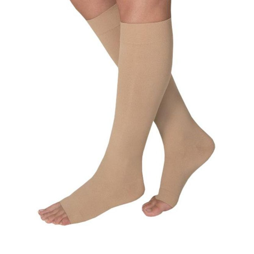 Jobst Opaque Knee Open Toe
