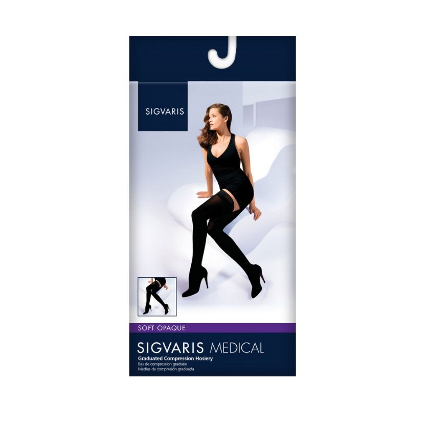 Sigvaris Opaque Thigh High Closed Toe
