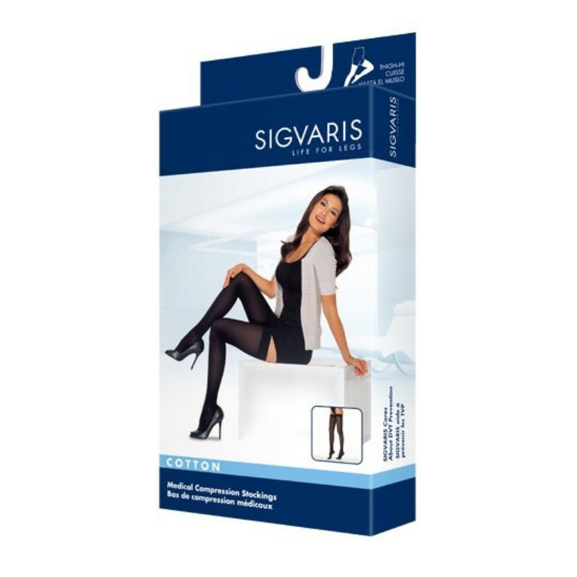 Sigvaris Cotton Thigh Highs