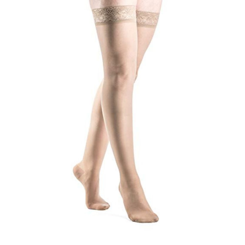 Sigvaris Sheer Fashion Thigh-High Closed Toe