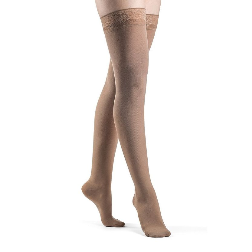 Sigvaris Soft Opaque Thigh-High Closed Toe