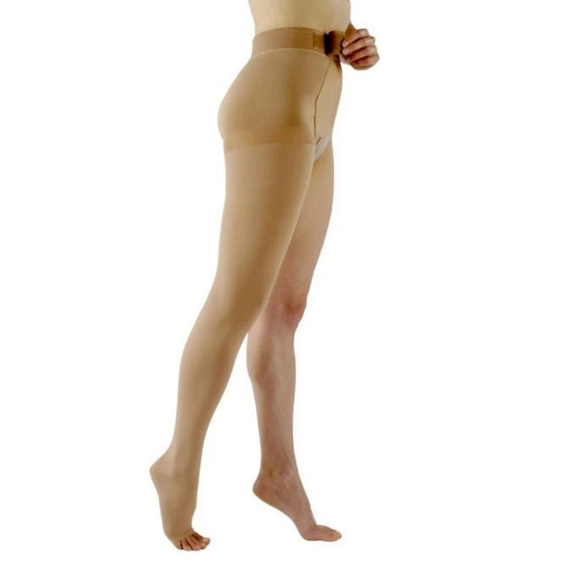 Sigvaris Natural Rubber Thigh-High W/Waist Attachment
