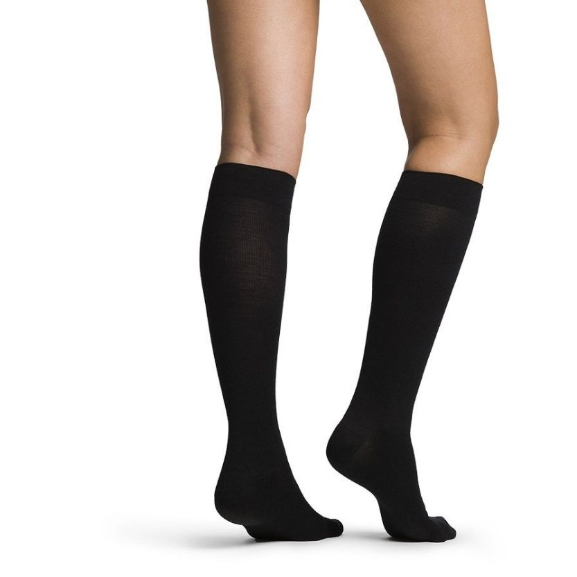 Sigvaris Womens All-Season Merino Wool Calf-High Socks