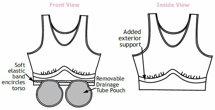 Wear Ease Dawn Bra Drain