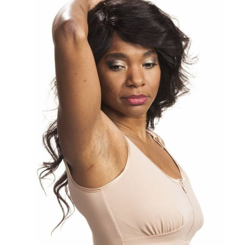 Wear Ease Compression Bra + 2 Drain Pouches and Breast Forms