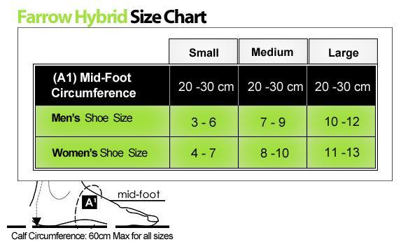 Jobst Farrow Hybrid AD Size Chart