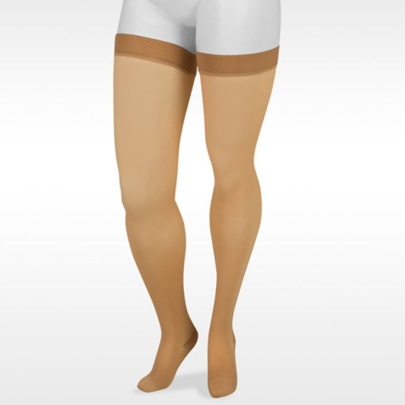 Juzo Basic Thigh High With Silicone Closed Toe