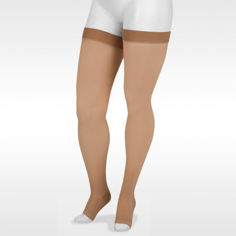 Juzo Basic Thigh High With Silicone Open Toe