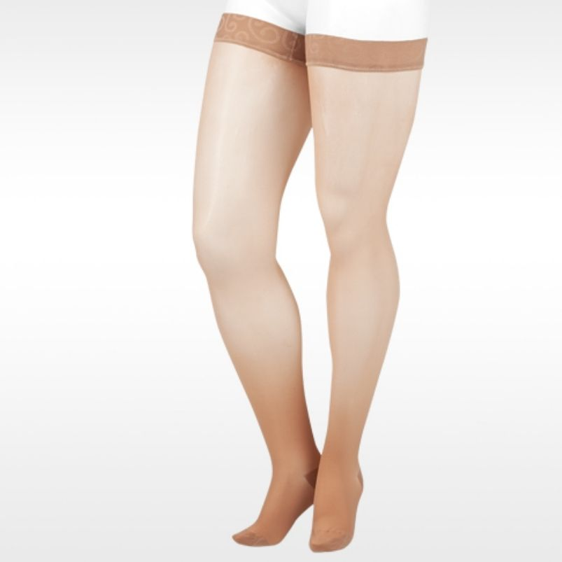 Juzo Attractive Sheer Thigh High Compression Stockings