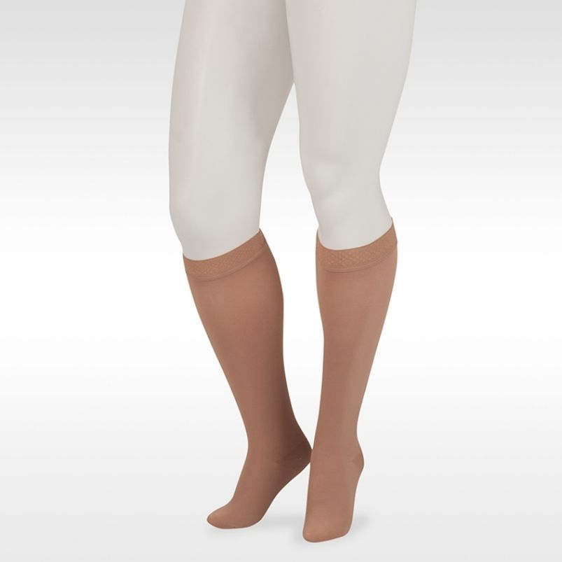 Juzo Dynamic Knee Highs With 3.5cm Silicone Border Closed Toe