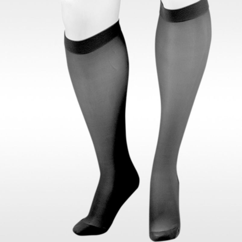 Juzo Sheer Knee High Black