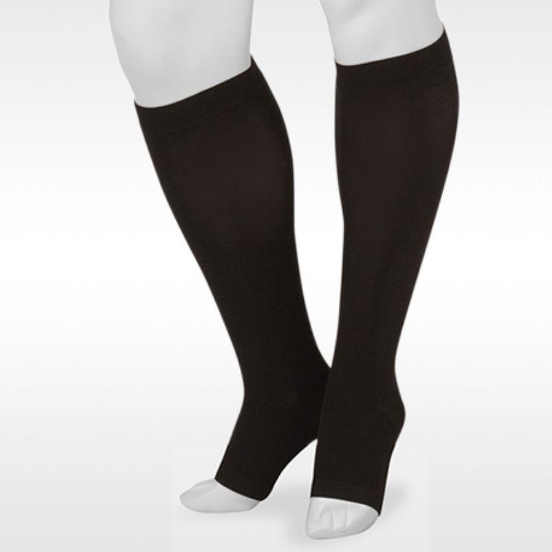 Juzo Basic Knee High Black Open Toe