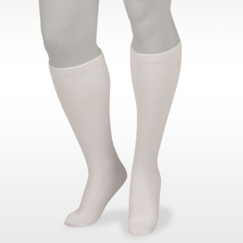 Juzo Basic Casual Knee Highs White