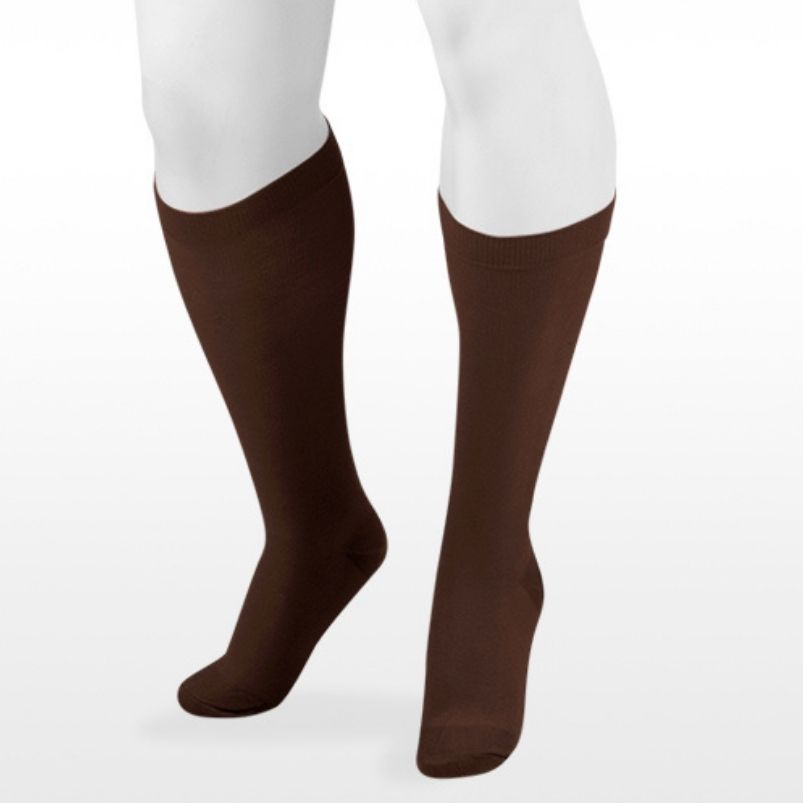 Juzo Cotton Support Sock Brown