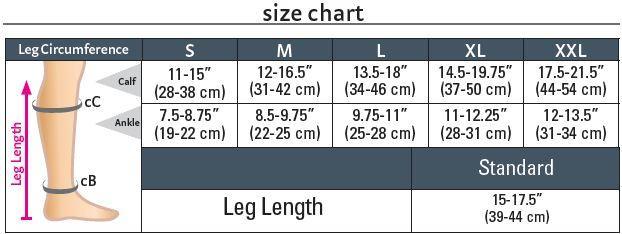 Medi Relax Size Chart